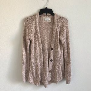 Angel of the North | pink knit cardigan